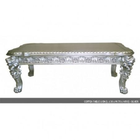 Silver coffee table rental model Lion