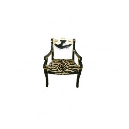 Tiger fabric armchair