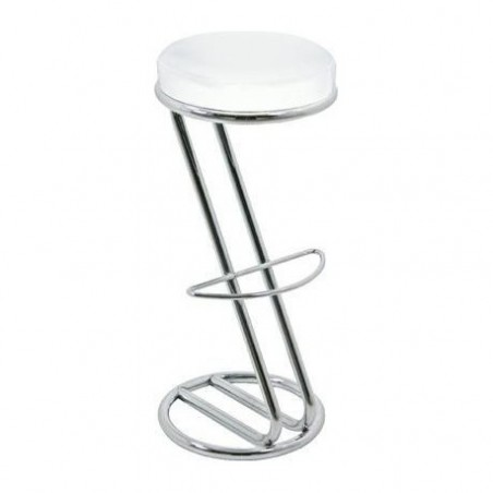 White leather stool for rent