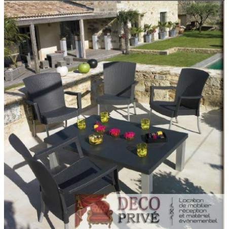 Rental of resin garden furniture