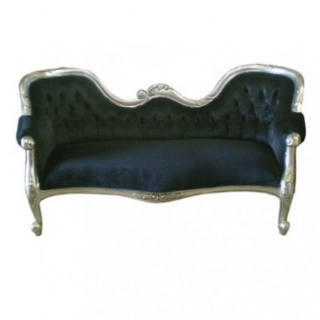 Black baroque sofa