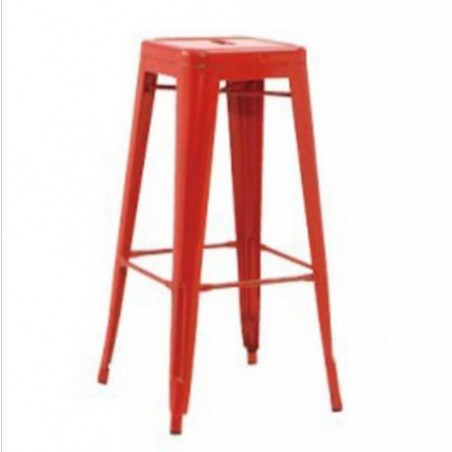 Red high stool