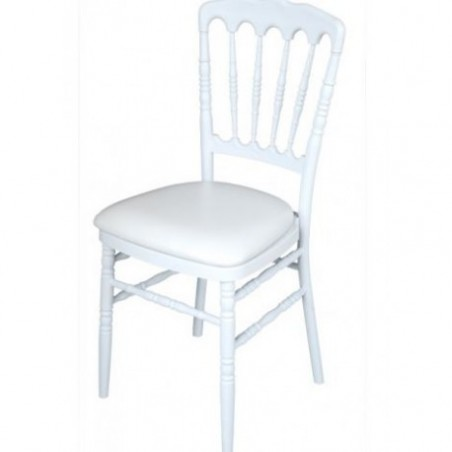 White Napoleon chair in polycarbonate