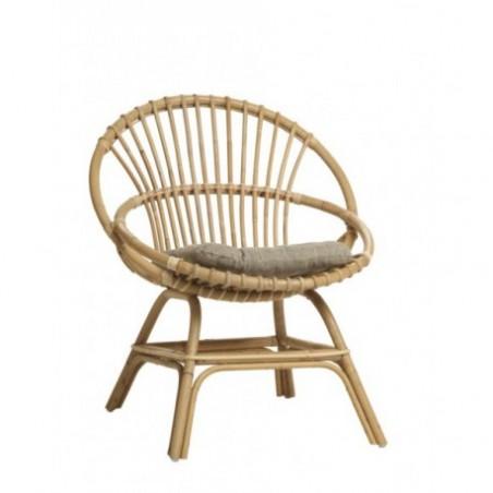 Cane armchair natural cane