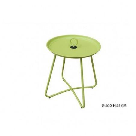 Metal garden coffee table rental