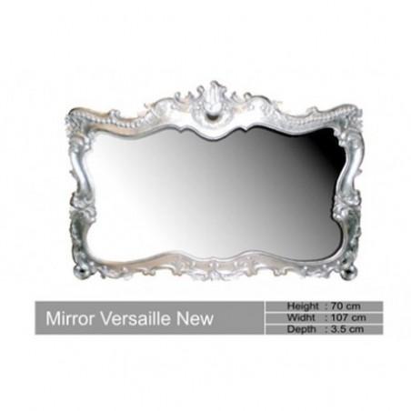 Baroque Wooden Mirror Silver Versailles
