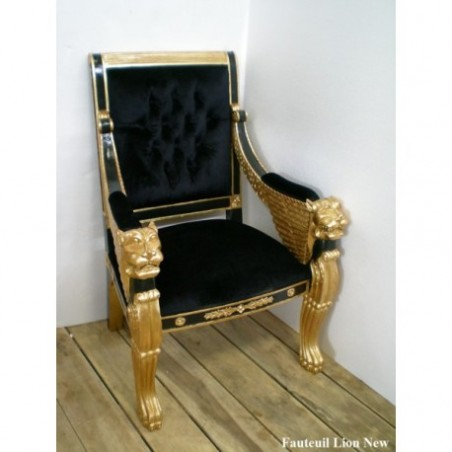 Black velvet armchair