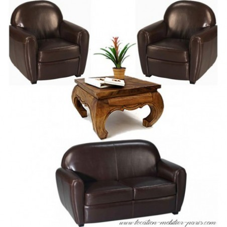 Leather club sofa