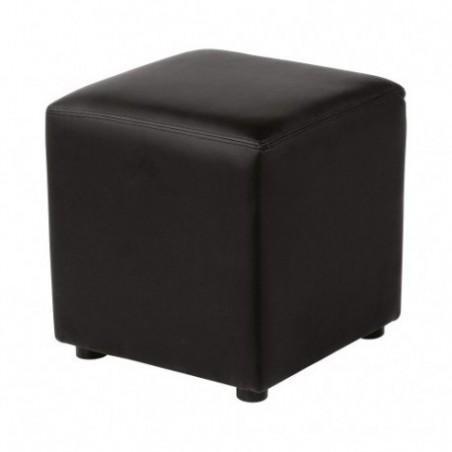 Lounge pouf in black imitation