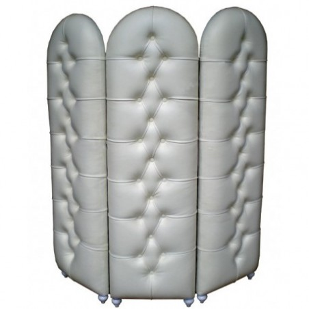 White leather look screen for rent