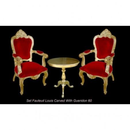 Golden baroque armchair